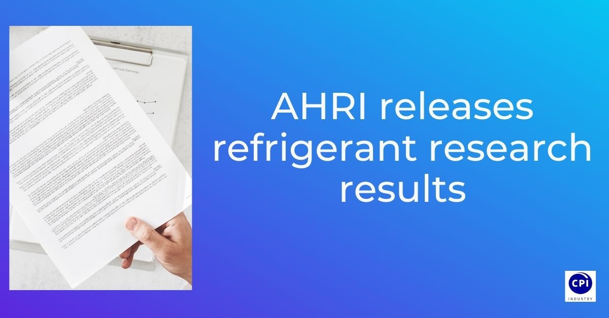 AHRI releases refrigerant research results