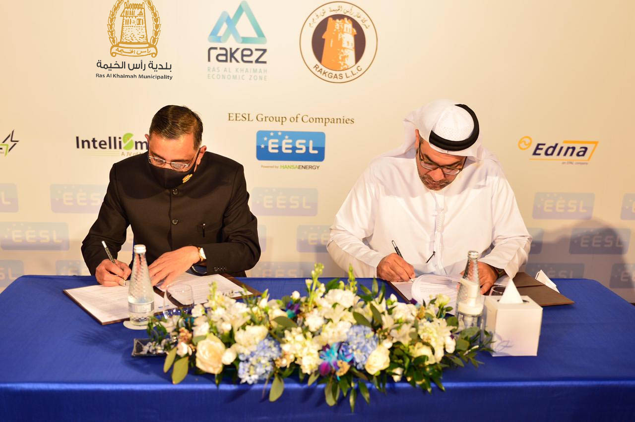 RAK Municipality signs MoU with Energy Efficiency Services Limited (EESL)