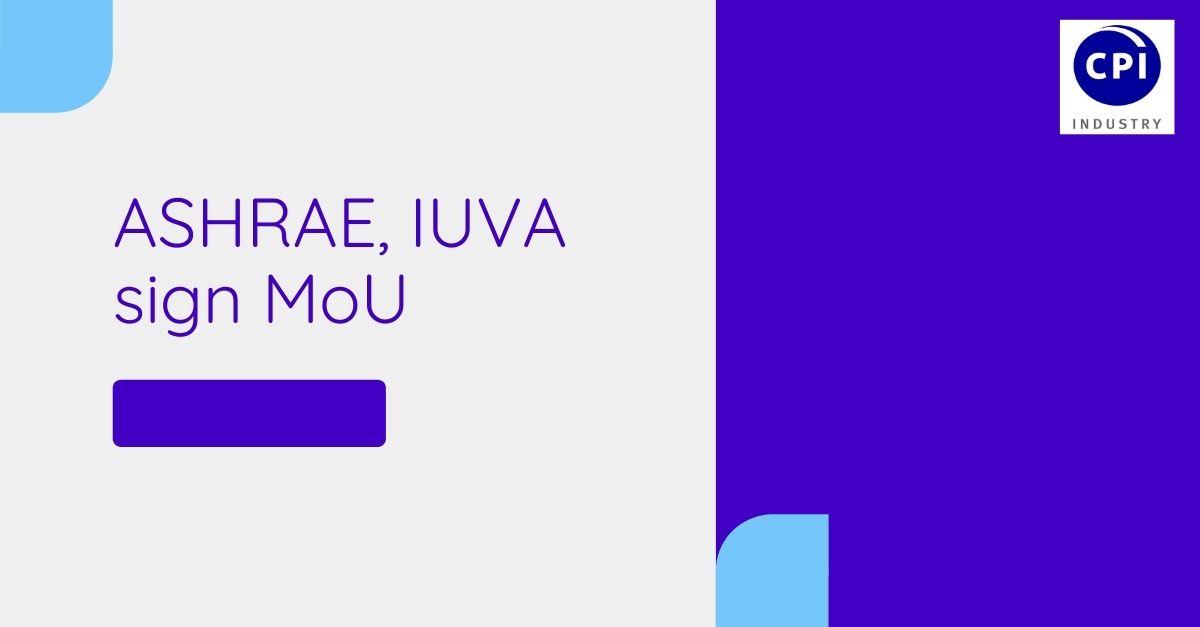 ASHRAE, IUVA sign MoU