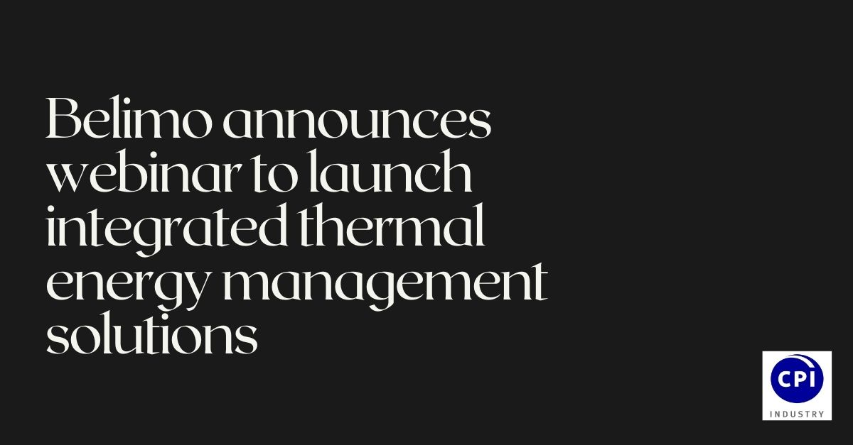 Belimo announces webinar to launch integrated thermal energy management solutions
