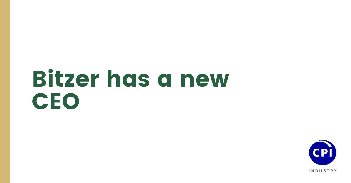 Bitzer has a new CEO