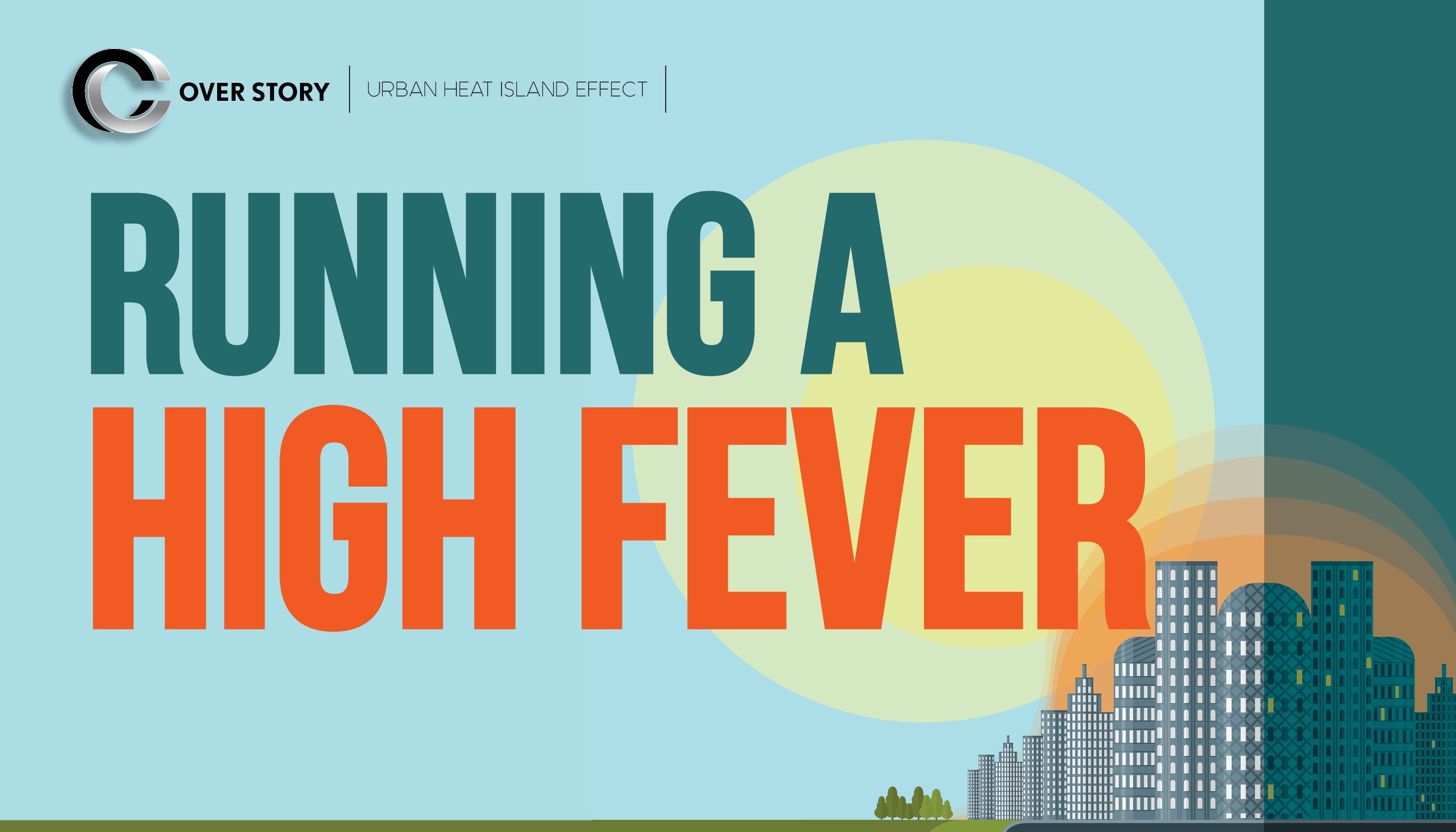 Running a high fever