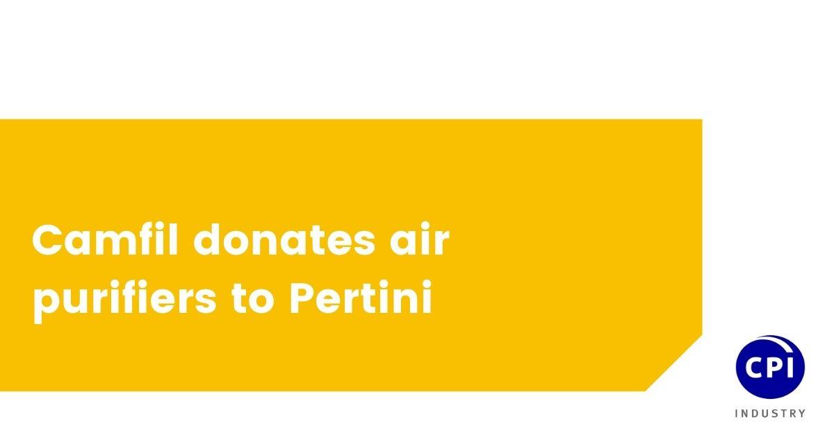 Camfil donates air purifiers to Pertini