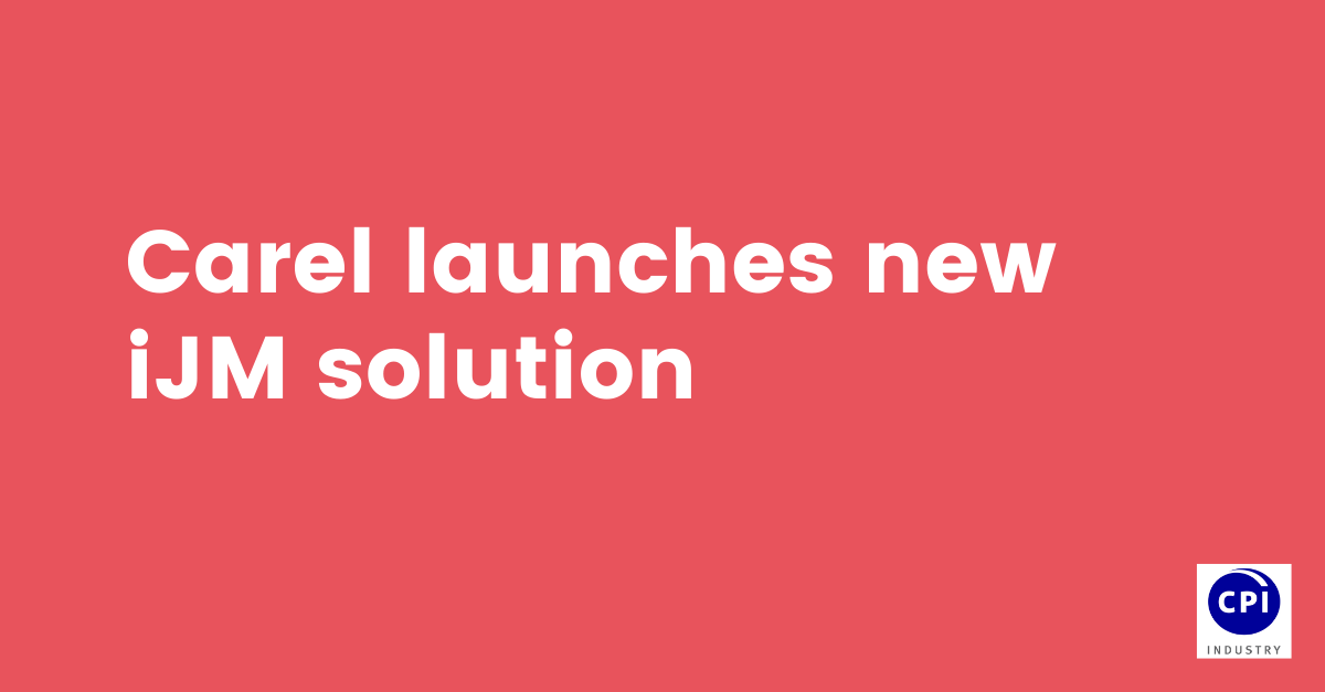 Carel launches new iJM solution