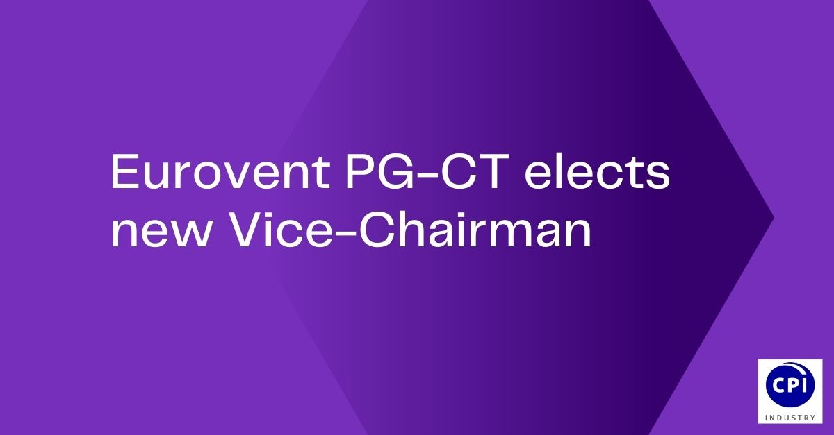 Eurovent PG-CT elects new Vice-Chairman