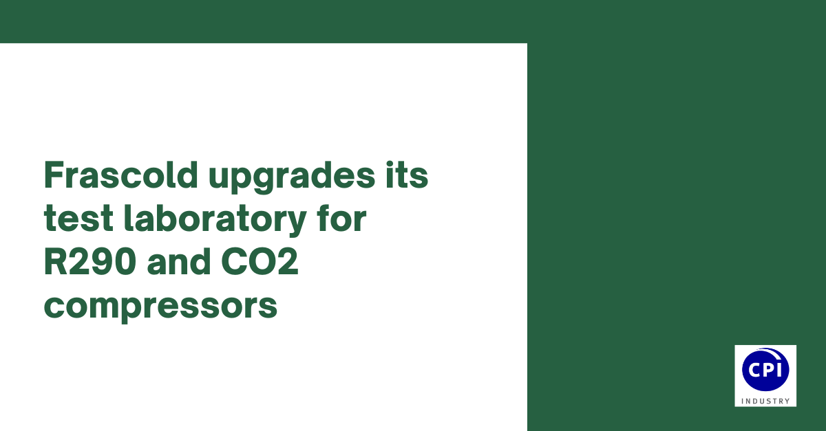 Frascold upgrades its test laboratory for R290 and CO2 compressors