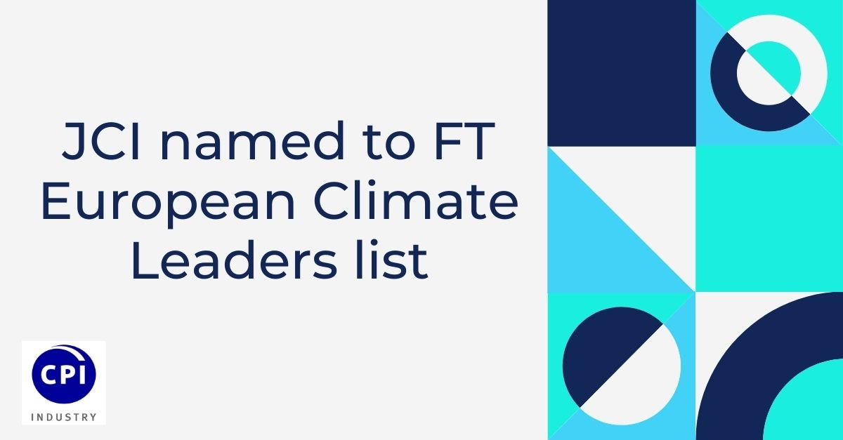 JCI named to FT European Climate Leaders list