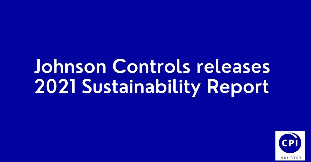 Johnson Controls releases 2021 Sustainability Report