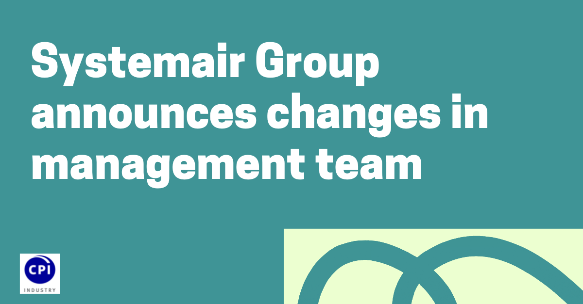 Systemair Group announces changes in management team