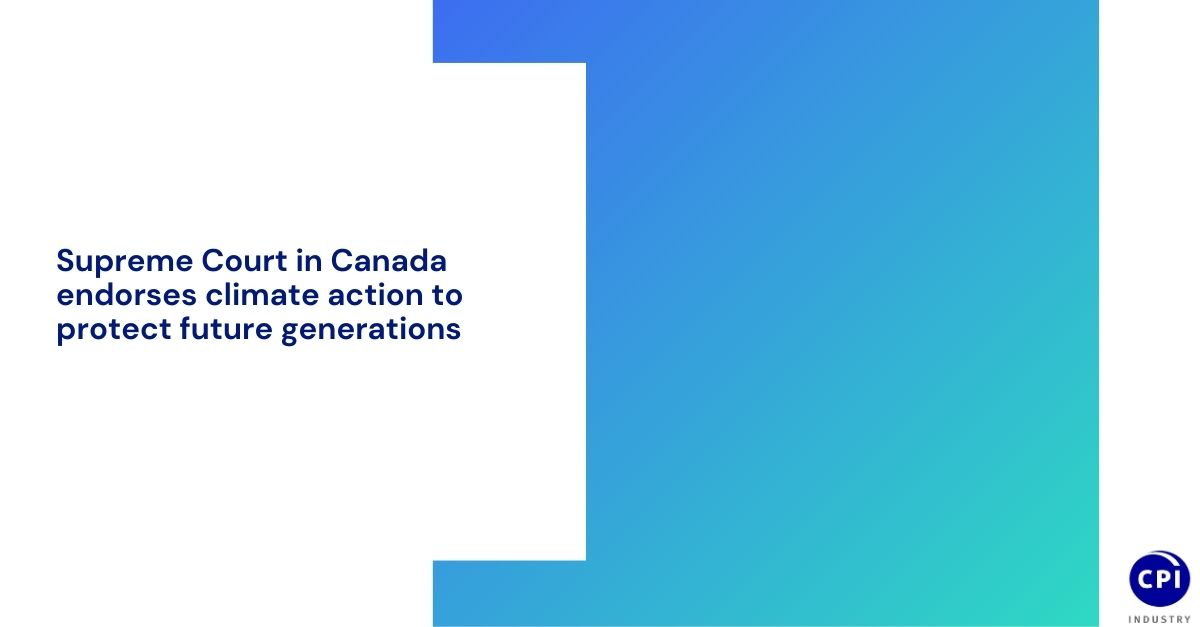 Supreme Court in Canada endorses climate action to protect future generations